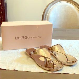 BCBGeneration Rose Gold Sandals